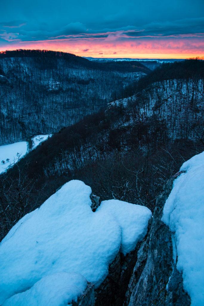 Sonnenuntergang im Lenninger Tal